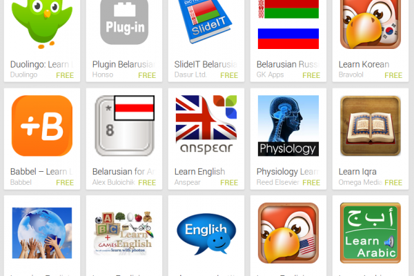 Learn Belarusian with Android Apps