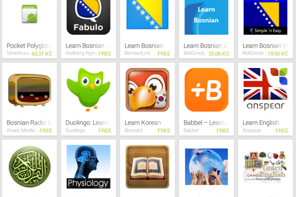 Learn Bosnian with Android Apps