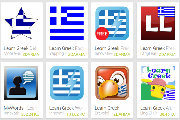 Learn Greek with Android Apps