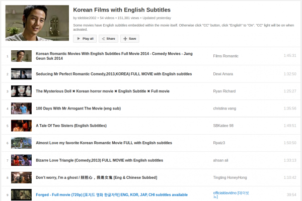 A Big List of Korean Films/Movies with English Subtitles to Watch and Learn for Free