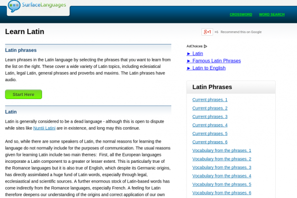 Free Latin Audio Phrasebook, Games and Mobile Apps (Android, iOS) to Learn Basic Latin