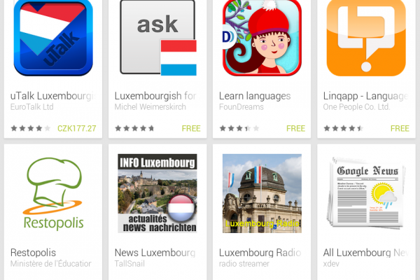 Learn Luxembourgish with Android Apps