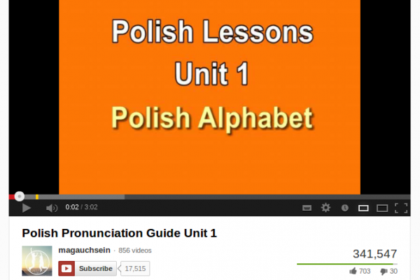 Learn Polish Alphabet and Pronunciation, a Free Video Series