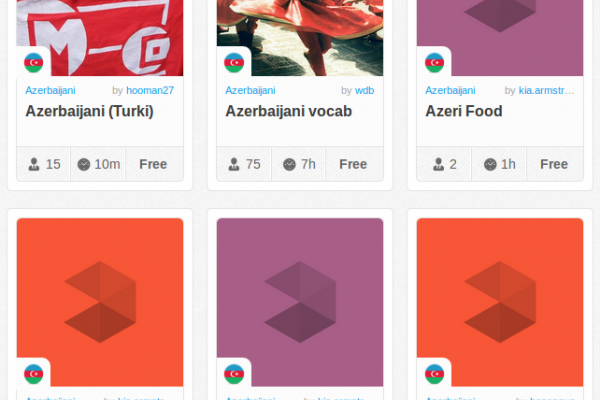 Memrise Merges Science, Fun and Community to Help Learn Azerbaijani Online for Free (+ App)
