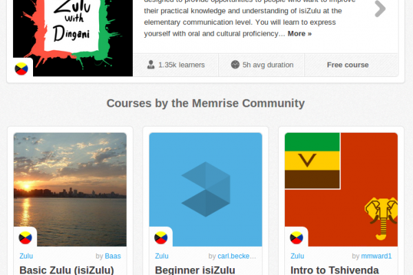 Memrise Merges Science, Fun and Community to Help Learn Zulu Online for Free (+ App)